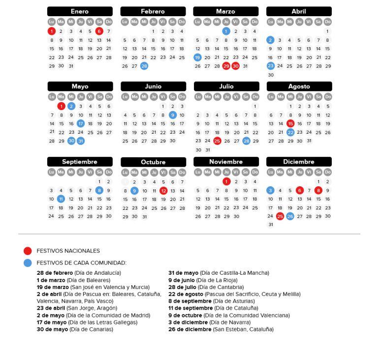 Calendario Laboral De Cataluna.Consulta El Calendario Laboral 2018 De Cada Comunidad