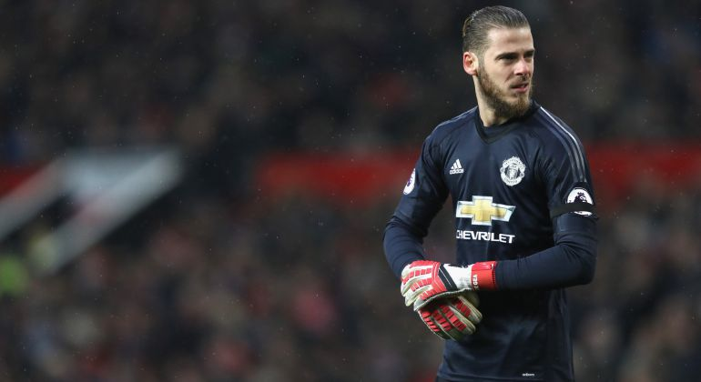David de Gea during the match between Manchester United and Huddersfield Town