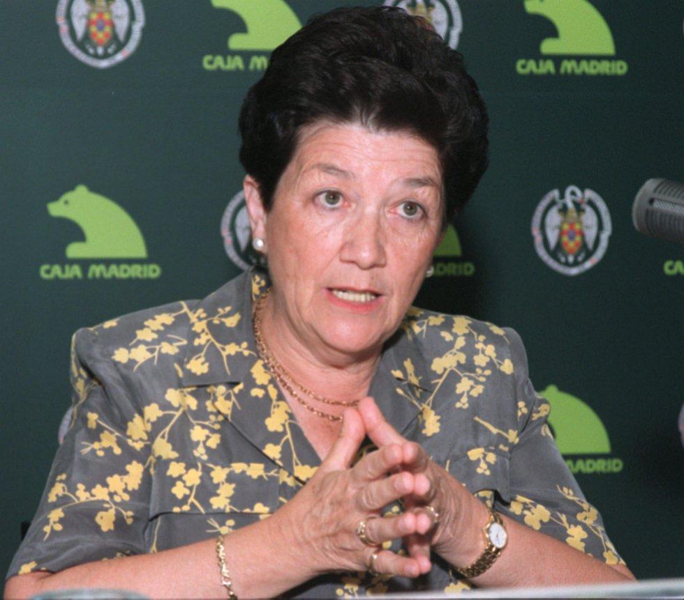 María Milagros García Crespo fue presidenta de la sección de fiscalización del Tribunal de Cuentas. La foto es de agosto de 1999.