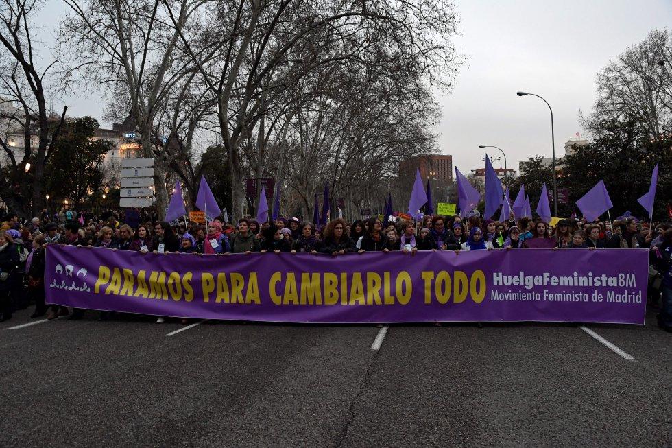 Cabecera de la marcha en Madrid.