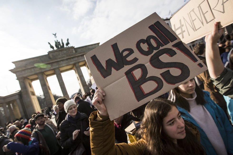 Ciudades de todo el mundo han mostrado su solidaridad con la causa de estas manifestaciones. En la imagen, la marcha en Berlín