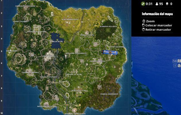 Mapa fortnite espanol