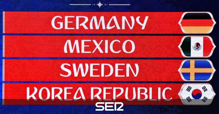 Calendario F.Calendario Del Grupo F Del Mundial De Rusia 2018 Deportes