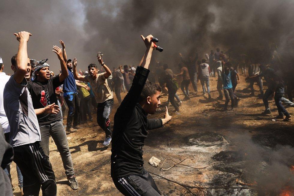 Los enfrentamientos de hoy dejan más de 50 palestinos muertos y más de 2.000 heridos