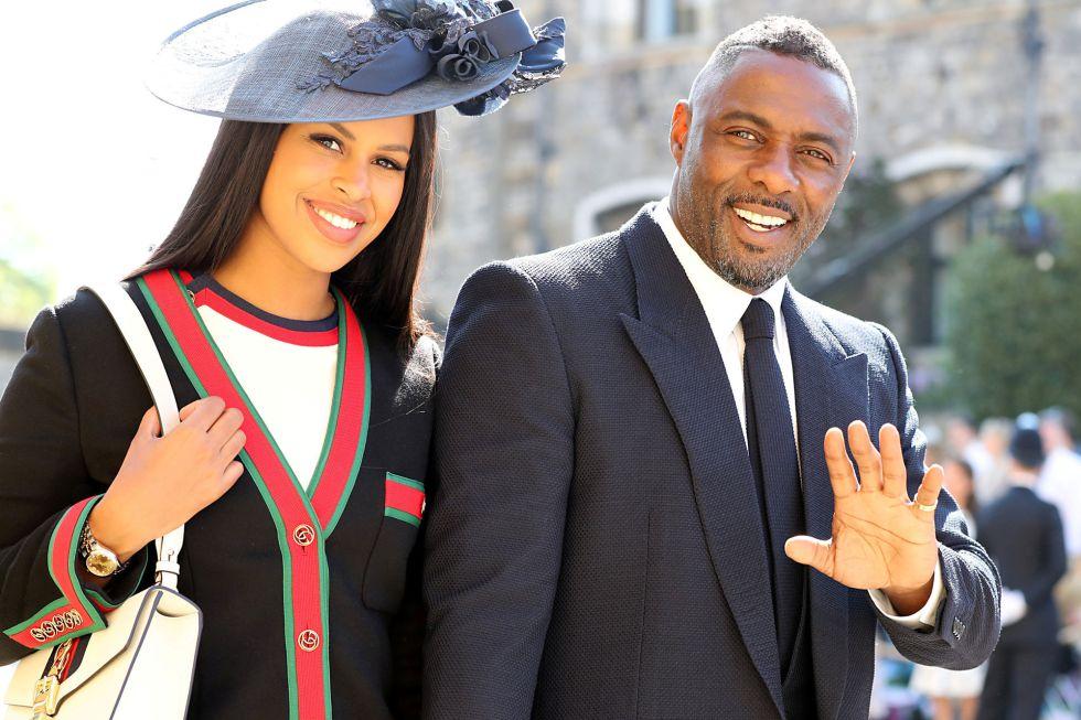 El actor Idris ElbaIdris Elba y Sabrina Dhowre.