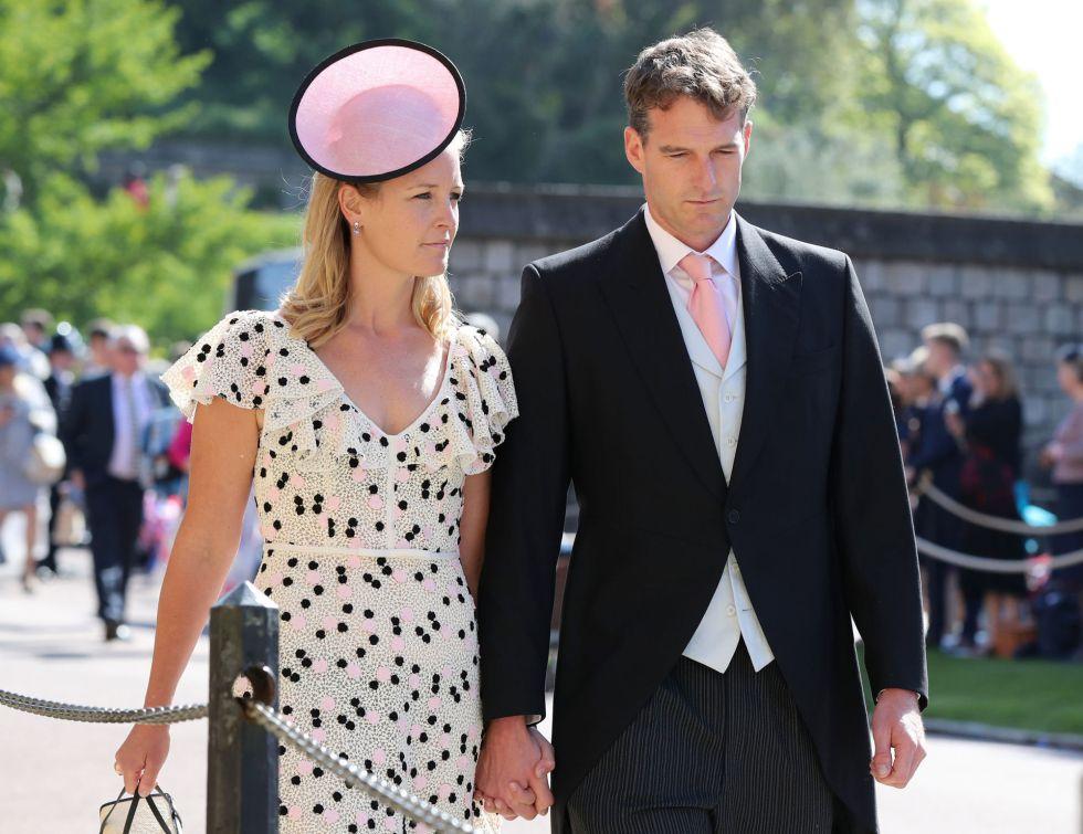 Lady Edwina Louise Grosvenor (izquierda) con su marido Dan Snow.