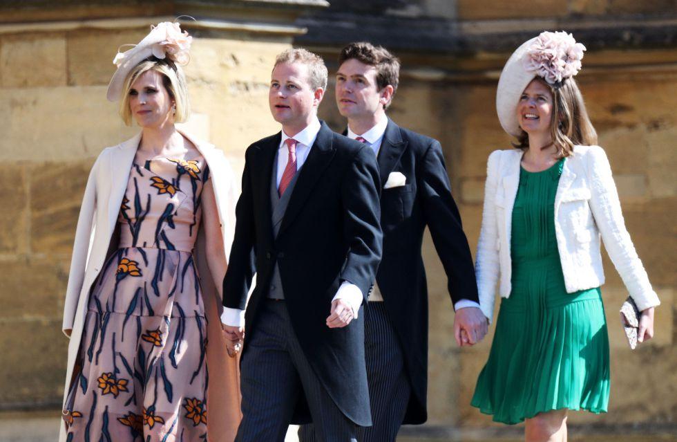 Lizzie Wilson, Guy Pelly, James Meade y Lady Laura Marsham llegan a la boda del Príncipe Harry y Meghan Markle.