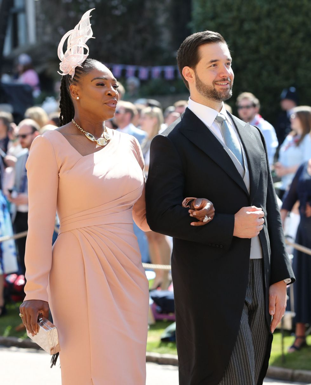 La jugadora de tenis Serena Williams y Alexis Ohanian llegan a la Capilla de San Jorge en el Castillo de Windsor