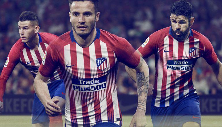El Atlético presenta su nueva camiseta para la temporada 2018-19 ... 6550e83dd3785