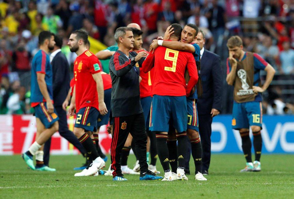 Desolación en las caras de los jugadores españoles