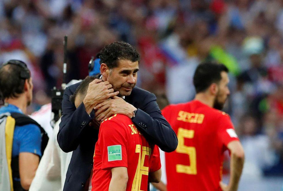 Hierro consuela a Jordi Alba