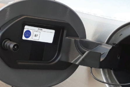 Etiquetado en el vehículo.