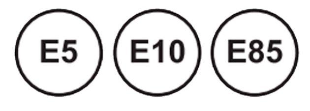 La gasolina se representa a través de círculos.