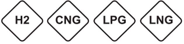 Los combustibles gaseosos se representan a través del rombo.