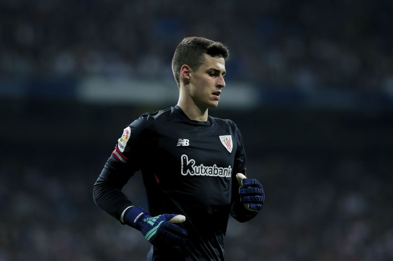 Kepa Arrizabalaga con el Athletic