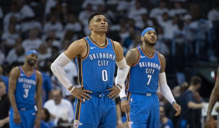 Russell Westbrook y Carmelo Anthony
