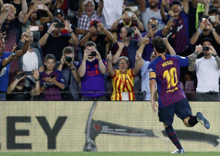 222bc22384 Cuando Messi marca el primer gol de liga... el Barcelona gana doblete o  triplete