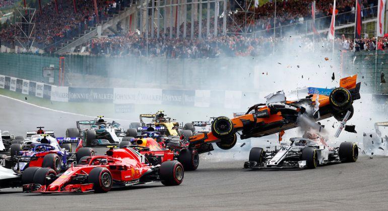 Circuito Fernando Alonso Accidente : Gp bélgica brutal accidente de fernando alonso en spa