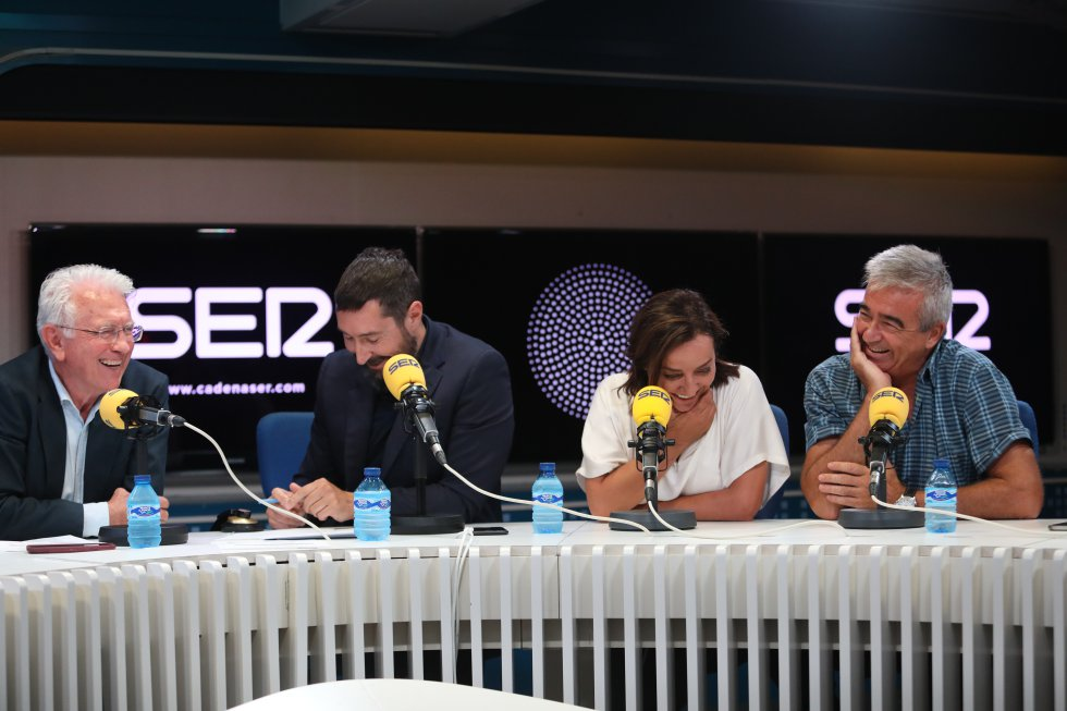 Daniel Gavela, Toni Garrido, Pepa Bueno y Carles Francino.