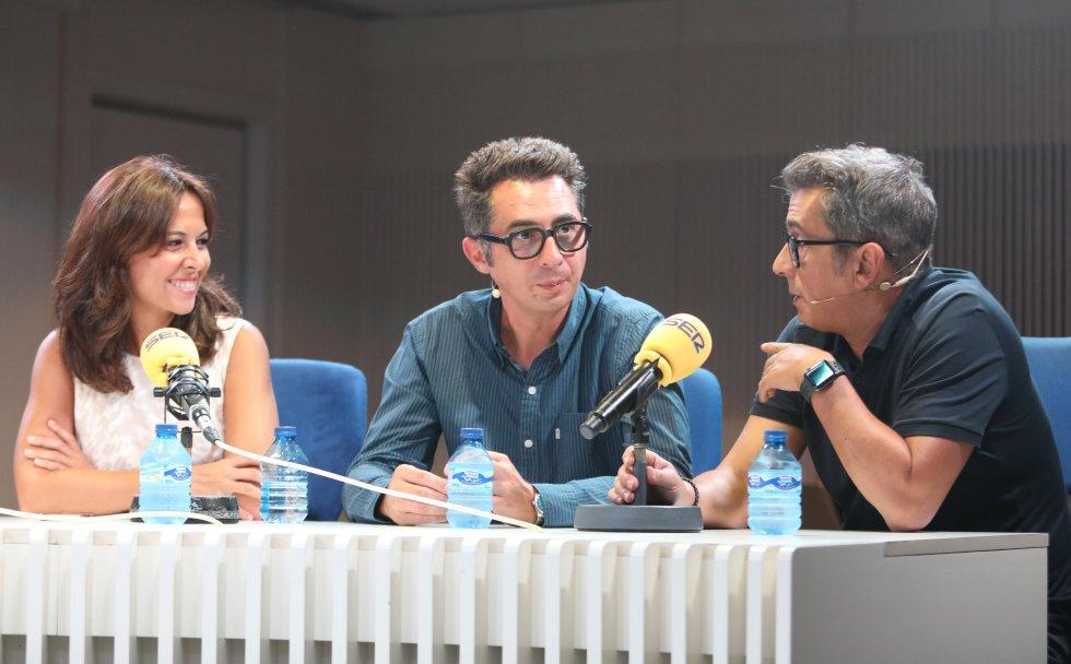 Mara Torres ('El Faro'), junto a Berto Romero y Andreu Buenafuente ('Nadie sabe nada').