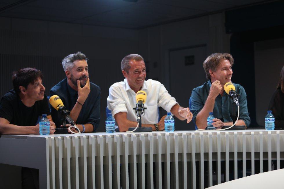 Juan Carlos Ortega ('Las noches de Ortega'), Dani Garrido ('Carrusel Deportivo'), Manu Carreño ('El Larguero`) y Javier del Pino ('A vivir...').