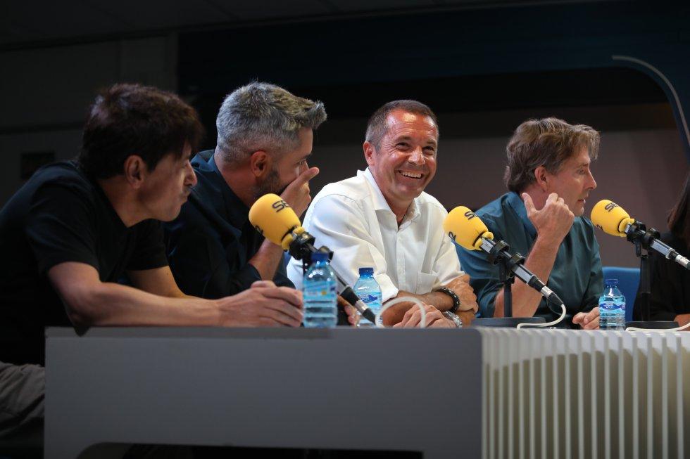 Juan Carlos Ortega, Dani Garrido, Manu Carreño y Javier del Pino.