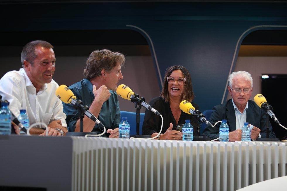 Manu Carreño, Javier del Pino, Àngels Barceló y Daniel Gavela.
