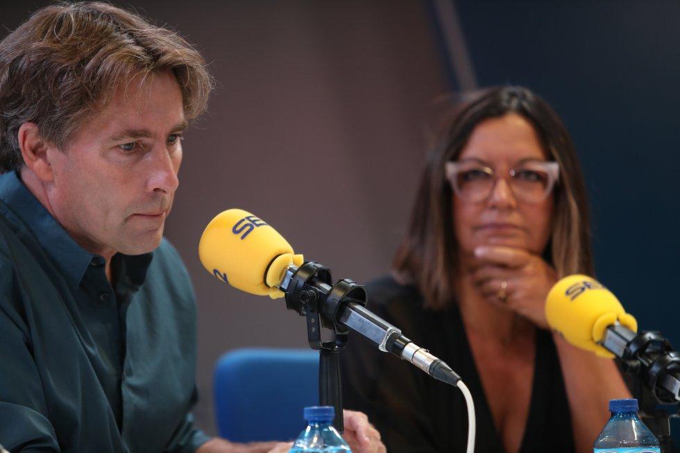 Javier del Pino y Àngels Barceló.