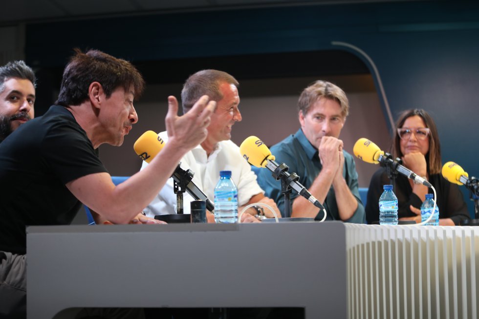 Juan Carlos Ortega, Dani Garrido, Manu Carreño, Javier del Pino y Àngels Barceló.