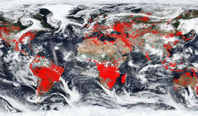 Nasa Mapa De Incendios.El Mapa De La Nasa Que Muestra Todos Los Incendios Activos