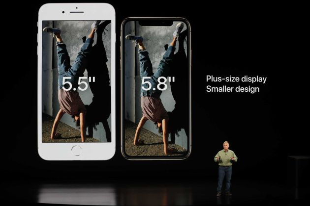 Schiller compara el iPhone XS con el 8 Plus.