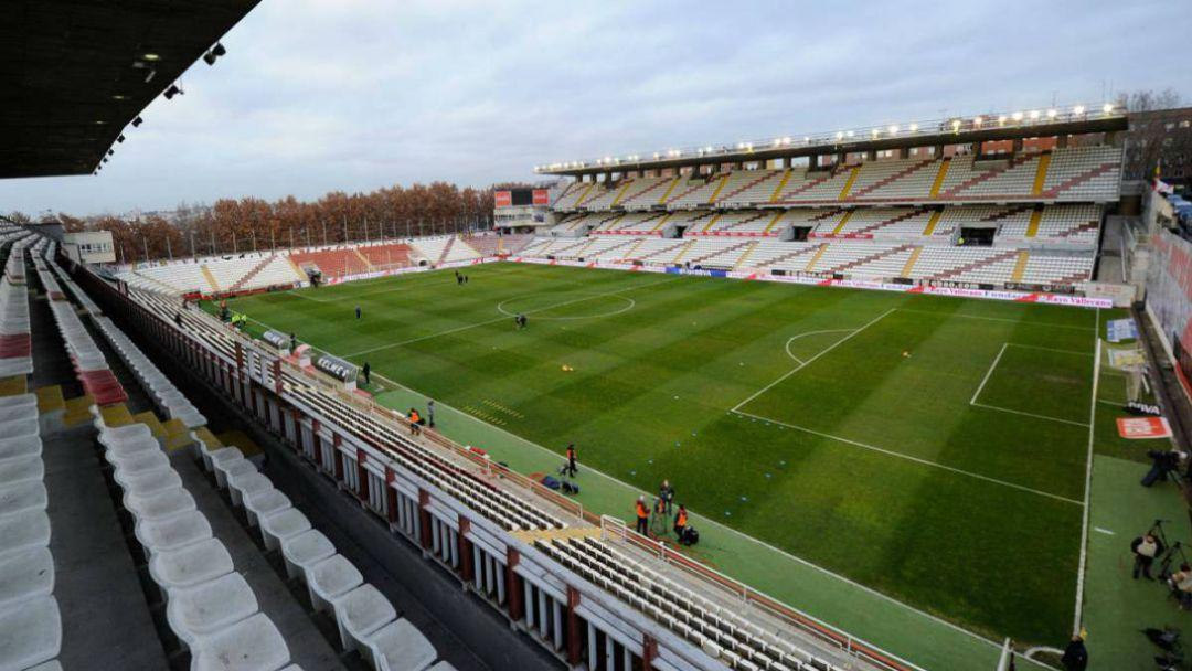 Estadio de Vallecas, campo del Rayo Vallecano.