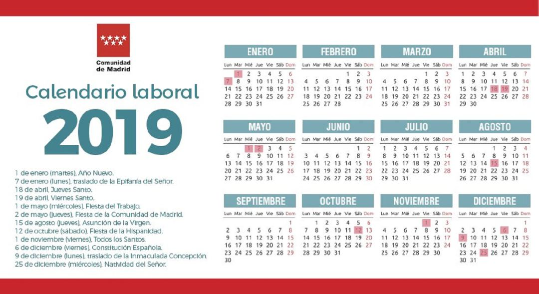 Calendario Laboral 2020 Canarias.Consulta El Calendario Laboral 2019 En La Comunidad De Madrid