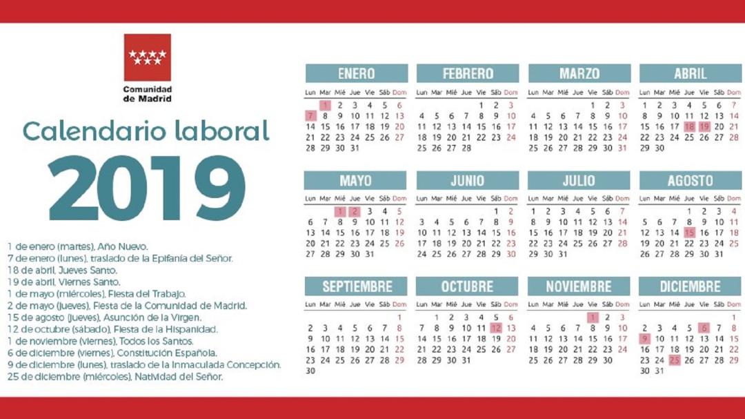 Calendario 2019 Y 2020 Con Festivos Para Colombia.Calendario Laboral Cadena Ser