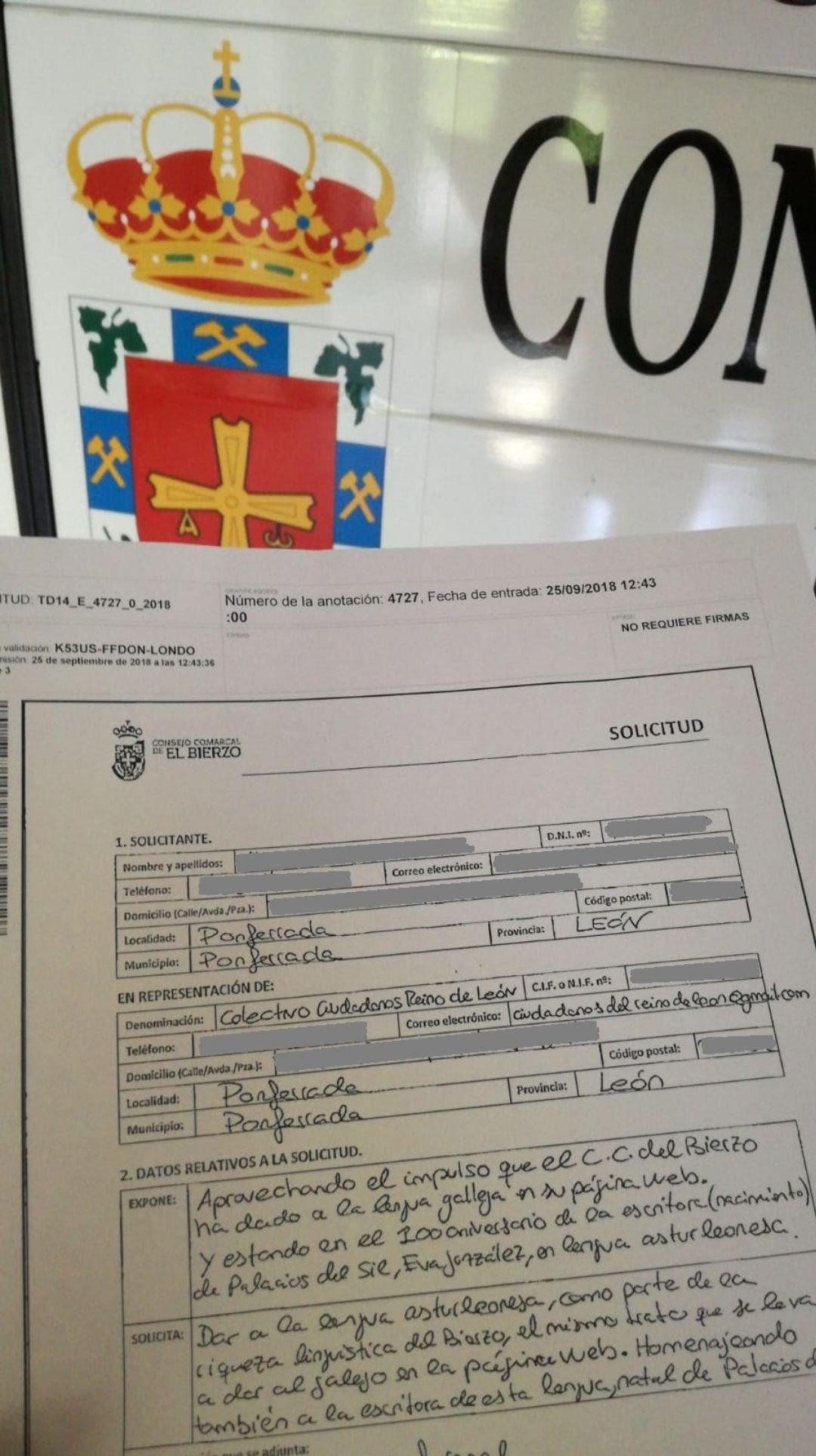 Ciudadanos Reino de León pide meter el leonés en la web del consejo del Bierzo