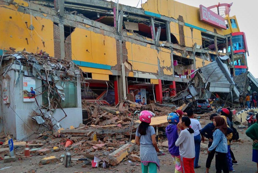 Una de las casas afectadas por el tsunami en Palu (Indonesia).