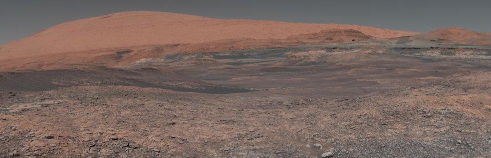 Imagen del Monte Sharp tomada por el rover Mars Curiosity