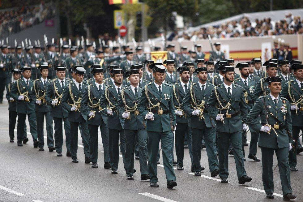 Desfile del 12 de Octubre en Madrid, Día de la Hispanidad.