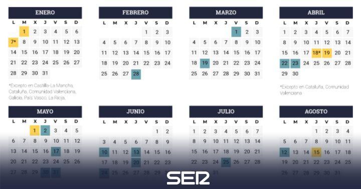 Calendario Laboral 2019 Andalucia.Fiestas 2019 Asi Sera El Calendario Laboral De 2019 Economia