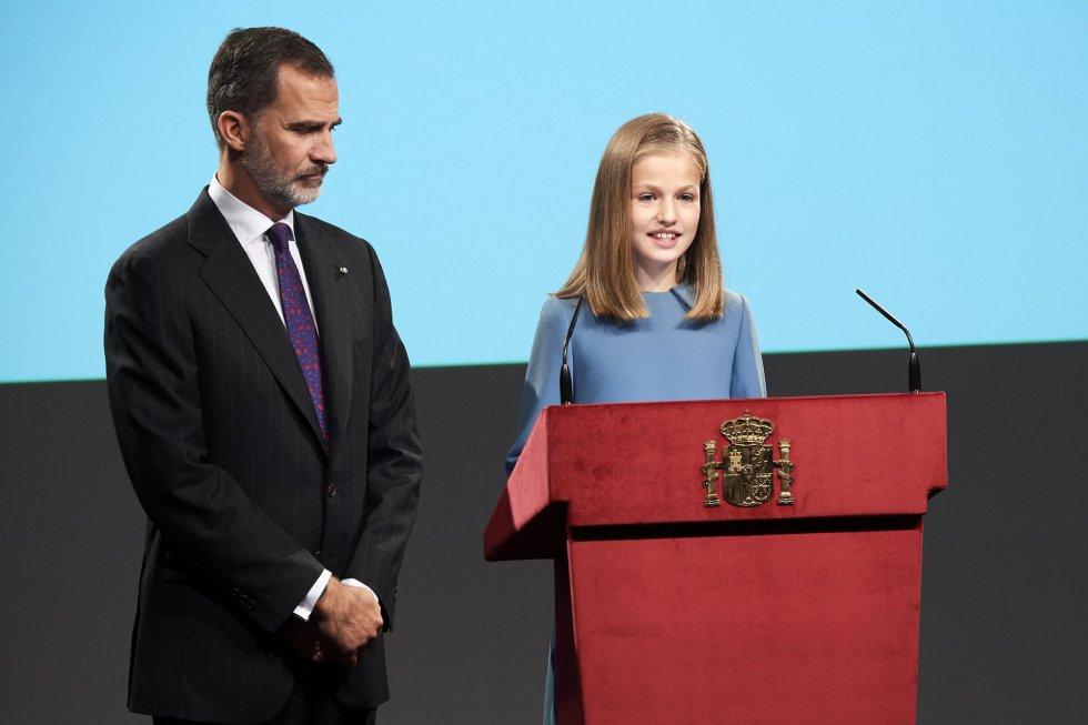 Las imágenes del primer acto público de la princesa Leonor