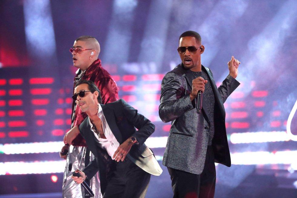 Marc Anthony, Will Smith y Bad Bunny dieron comienzo a la gala.