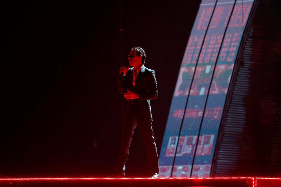 Actuación de Marc Anthony.