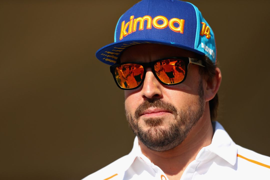 Fernando Alonso of Spain and McLaren F1 walks in the Paddock during previews ahead of the Abu Dhabi Formula One Grand Prix at Yas Marina Circuit on November 22, 2018 in Abu Dhabi, United Arab Emirates.