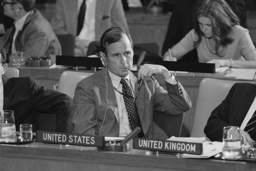 Bush en la ONU como embajador de los Estados Unidos