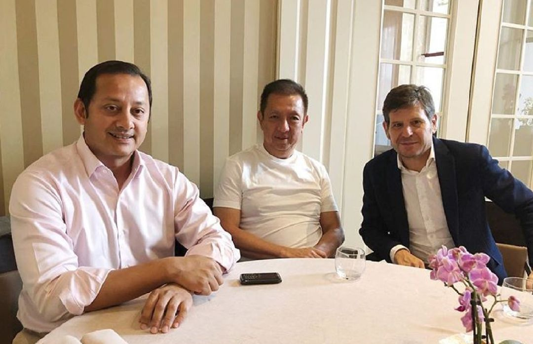 Anil Murthy, Peter Lim y Mateo Alemany.