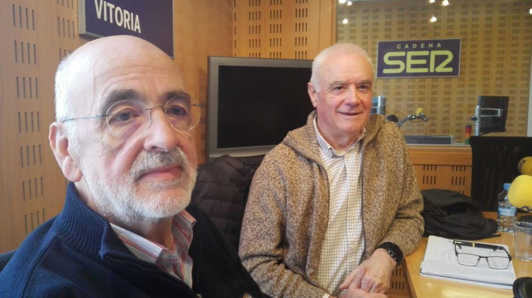 Víctor Allende y Javier Fernández de Troconiz, presidente y miembro de SECOT en SER Vitoria.
