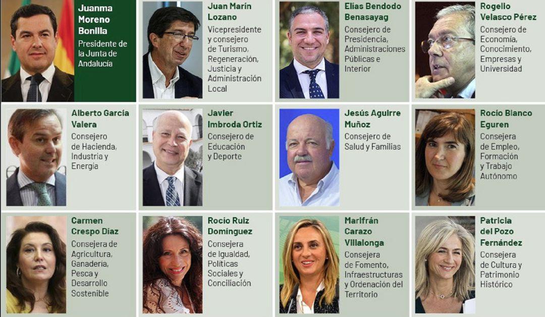 Resultado de imagen de nuevo gobierno andalucia y consejerias
