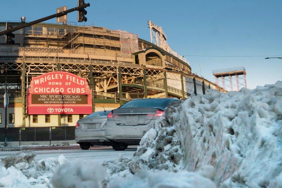 Así se ve el estadio del equipo de baseball Chicago Cubs. Inaccesible.