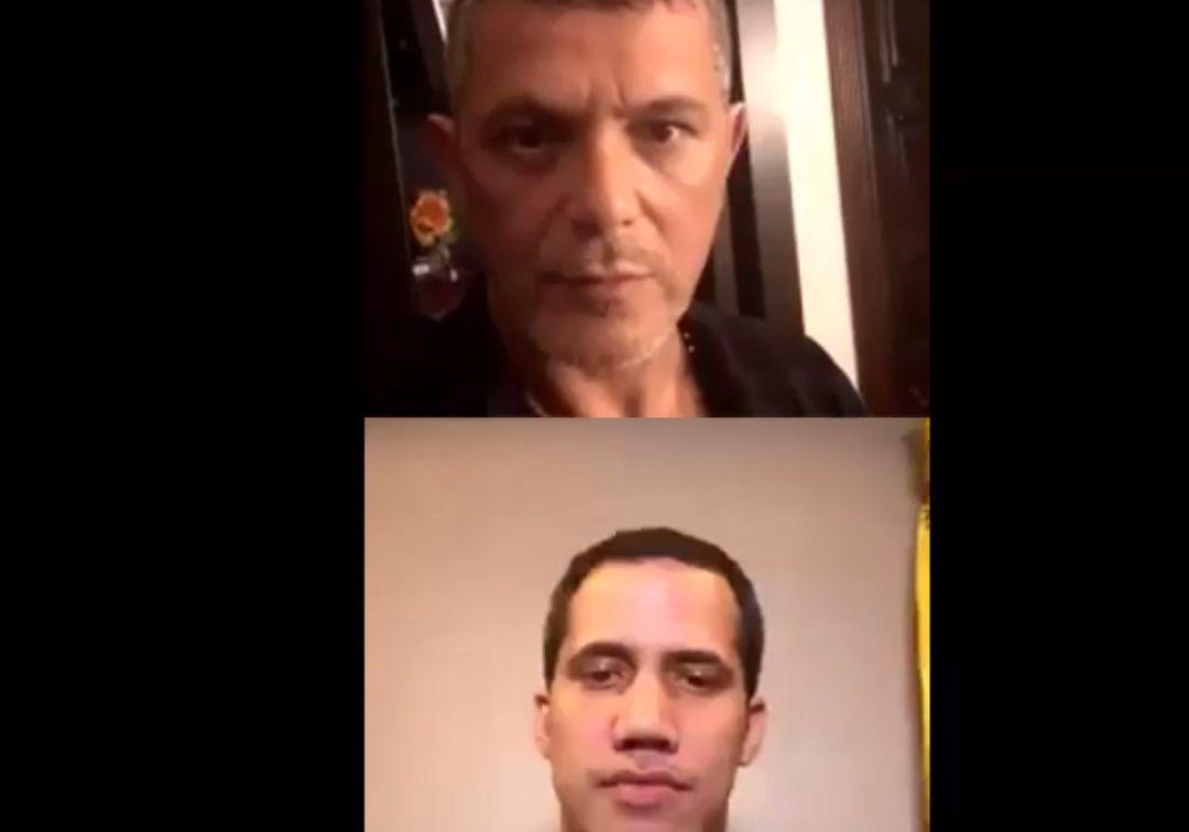 """Alejandro Sanz entrevista a Guaidó: """"Estamos para apoyar la entrada de la ayuda humanitaria"""""""