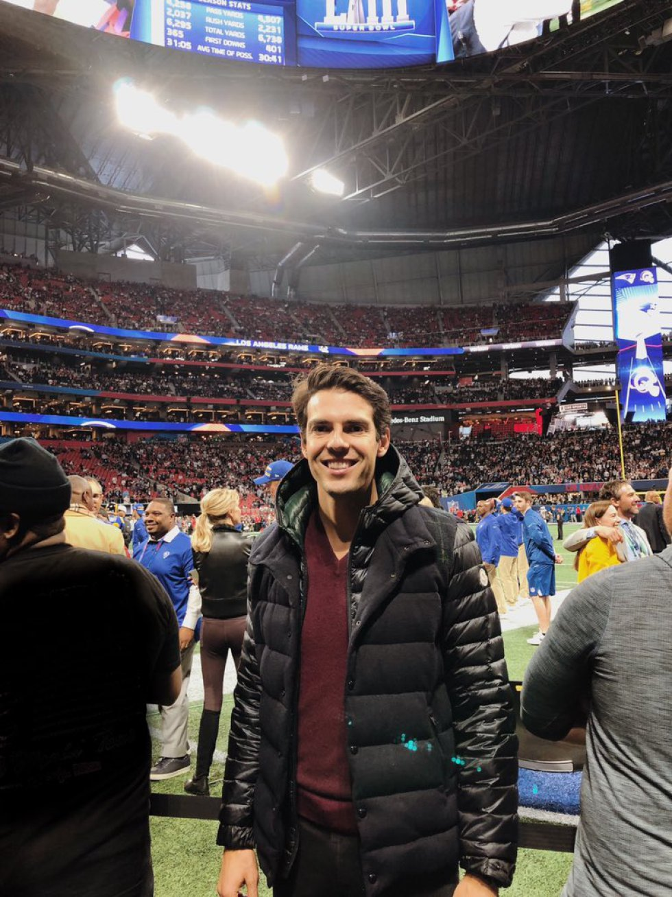 Kaka, en la previa de la Super Bowl en Atlanta
